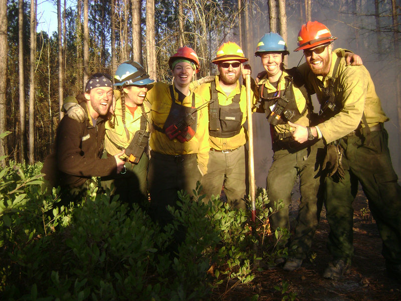 firefighters posing for group photo